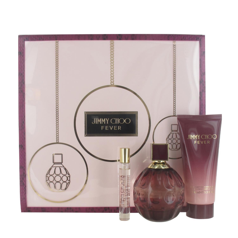 Jimmy Choo Fever Gift Set 100ml Eau de Parfum, 100ml Body Lotion, 7.5ml Eau de Parfum for Her