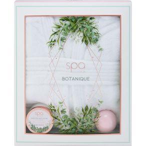 Style & Grace Botanique Bath Robe Gift Set 120ml Body Butter, 100g Bath Fizzers