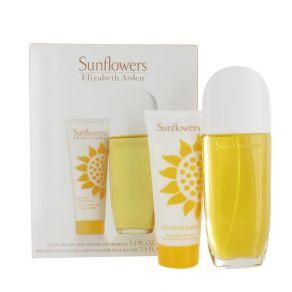 Elizabeth Arden Sunflowers Gift Set 100ml Eau de Toilette, 100ml Body Lotion for Her