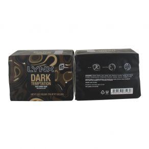 Lynx Face and Body Soap Dark Temptation Twin 100g