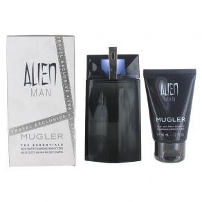Thierry Mugler Alien Man 100ml Eau de Toilette Gift Set 50ml Hair Body Shampoo for Him