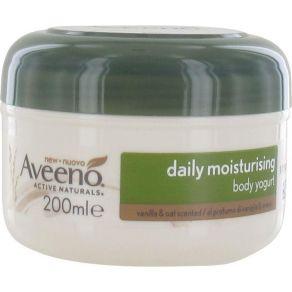 Aveeno Daily Moisturiser Yogurt Body Lotion 200ml with Vanilla & Oat