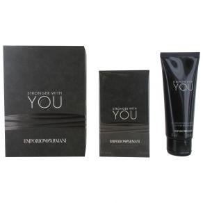 Giorgio Armani Stronger With You 50ml Eau de Toilette Spray, 75ml Shower Gel Gift Set for Him