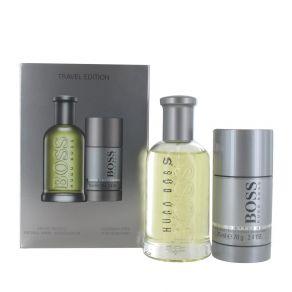 Hugo Boss Boss Bottled Gift Set 100ml Eau de Toilette Spray, 75g Deodorant Stick for Him