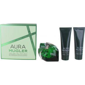 Thierry Mugler Aura 50ml Eau de Parfum, Gift Set  50ml Body Lotion, 50ml Shower Gel for Her