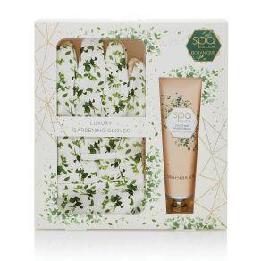 Style & Grace Spa Botanique Garden Glove Gift Set Garden Gloves and 125ml Hand Cream