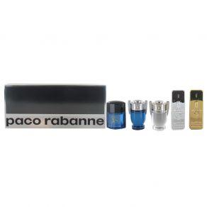 Paco Rabanne Men Discovery 5 Miniature Gift Set - One Million, One Million Lucky, Invictus, Invictus Aqua, Pure XS 5ml Eau de Toilette for Him