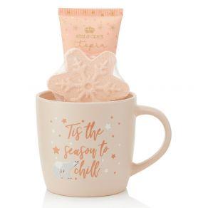 Style & Grace Utopia Mug Gift Set - 70ml Body Lotion, 50g Bath Fizzer and Ceramic Mug