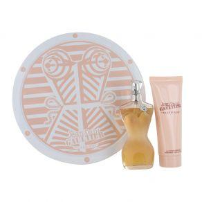 Jean Paul Gaultier Classique 50ml Eau de Toilette Spray Gift Set 75ml Body Lotion Gift Set for Her