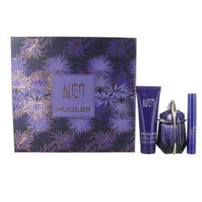 Thierry Mugler Alien Gift Set 30ml Eau de Parfum, 50ml Body Lotion, Perfume Stick for Her
