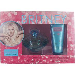 Britney Spears Curious Gift Set 100ml Eau de Parfum, 100ml Body Souffle for Her