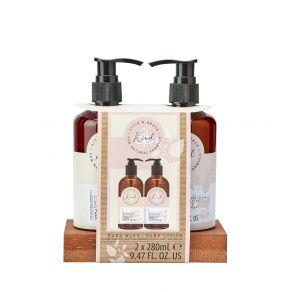 Style & Grace Kind Hand Wash Set  - 280ml Hand Wash, 280ml Hand Lotion, Pine Tray