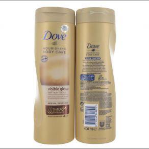 Dove Summer Visible Glow Gradual Self Tan Lotion 400ml - Medium / Dark