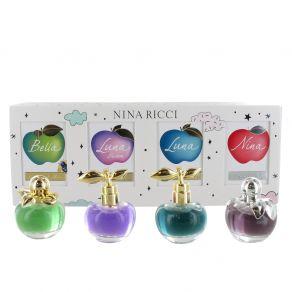 Nina Ricci Ladies 4 Piece Miniature Gift Set -  Nina, Bella, Luna, Luna Blossom 4ml Eau de Toilette