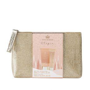 Style & Grace Utopia Glitter Bag Set- 50ml Hand Lotion, 10ml Lip Gloss, Bag