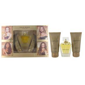 Little Mix Gold Magic Gift Set 100ml Eau de Parfum Spray, 75ml Body Wash, 75ml Body Lotion for Her