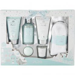 Style & Grace Puro Blockbuster Gift Set 150ml Body Wash, 150ml Body Lotion, 240ml Bubble Bath, 50g Bath Fizzer, 60g Candle, Pair of Socks